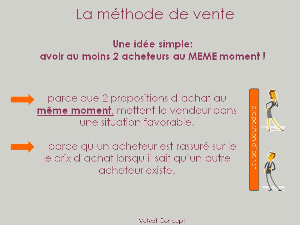 Méthode de vente | Velvet Concept
